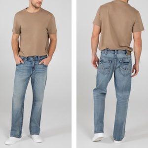 NWT Men's Silver Jeans Gordie Straight Leg 38 x 32